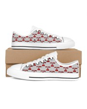 Stay Home and Chill Women's Low Top White Shoes thumbnail