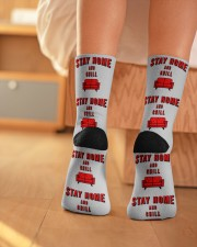 Stay Home and Chill Crew Length Socks aos-accessory-crew-length-socks-lifestyle-back-01