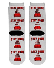 Stay Home and Chill Crew Length Socks back