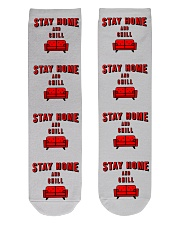 Stay Home and Chill Crew Length Socks front
