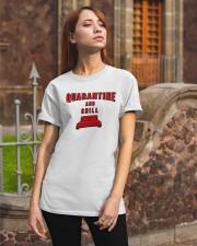 Quarantine and Chill Classic T-Shirt apparel-classic-tshirt-lifestyle-06