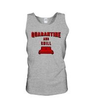 Quarantine and Chill Unisex Tank tile