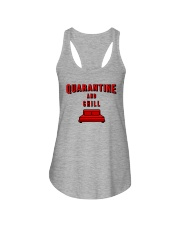 Quarantine and Chill Ladies Flowy Tank tile