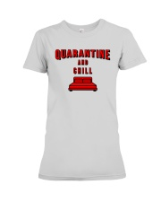 Quarantine and Chill Premium Fit Ladies Tee tile