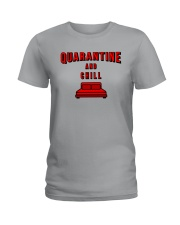 Quarantine and Chill Ladies T-Shirt tile