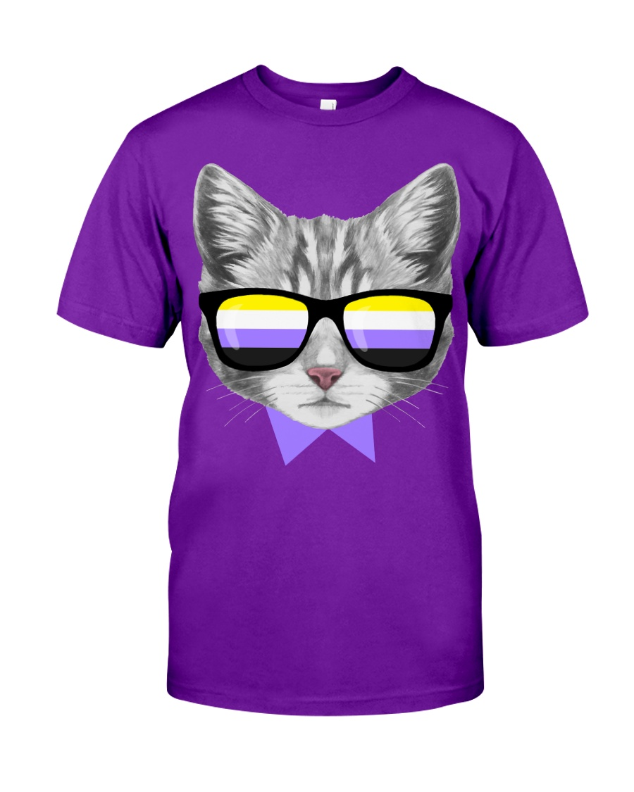 Non-Binary Cat Classic T-Shirt