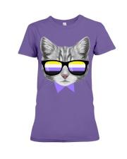 Non-Binary Cat Premium Fit Ladies Tee thumbnail