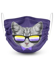 Non-Binary Cat 2 Layer Face Mask - Single thumbnail