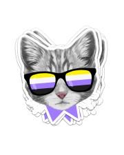Non-Binary Cat Sticker - 6 pack (Vertical) thumbnail