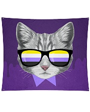 "Non-Binary Cat Wall Tapestry - 80"" x 68"" thumbnail"