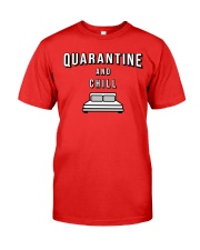 Quarantine and Chill - Red Version Premium Fit Mens Tee thumbnail