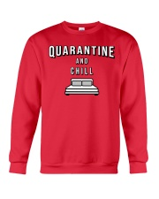 Quarantine and Chill - Red Version Crewneck Sweatshirt thumbnail