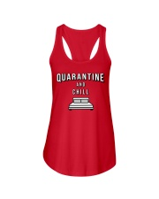 Quarantine and Chill - Red Version Ladies Flowy Tank thumbnail