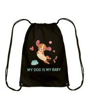 My Dog Is My Baby Drawstring Bag tile