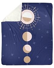 "Moon and sun Sherpa Fleece Blanket - 50"" x 60"" thumbnail"