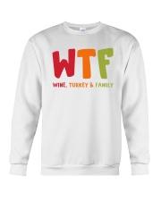 Wine Turkey and Family Crewneck Sweatshirt thumbnail