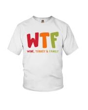 Wine Turkey and Family Youth T-Shirt thumbnail