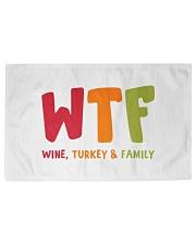 Wine Turkey and Family Woven Rug - 3' x 2' thumbnail