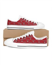 Quarantine and Chill - Red Version Women's Low Top White Shoes thumbnail