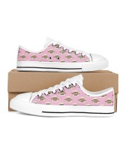 Cookie Baking Team Women's Low Top White Shoes inside-left-outside-left