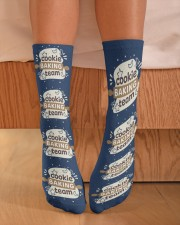 Cookie Baking Team Crew Length Socks aos-accessory-crew-length-socks-lifestyle-front-02