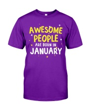 Awesome People are Born in January Classic T-Shirt thumbnail