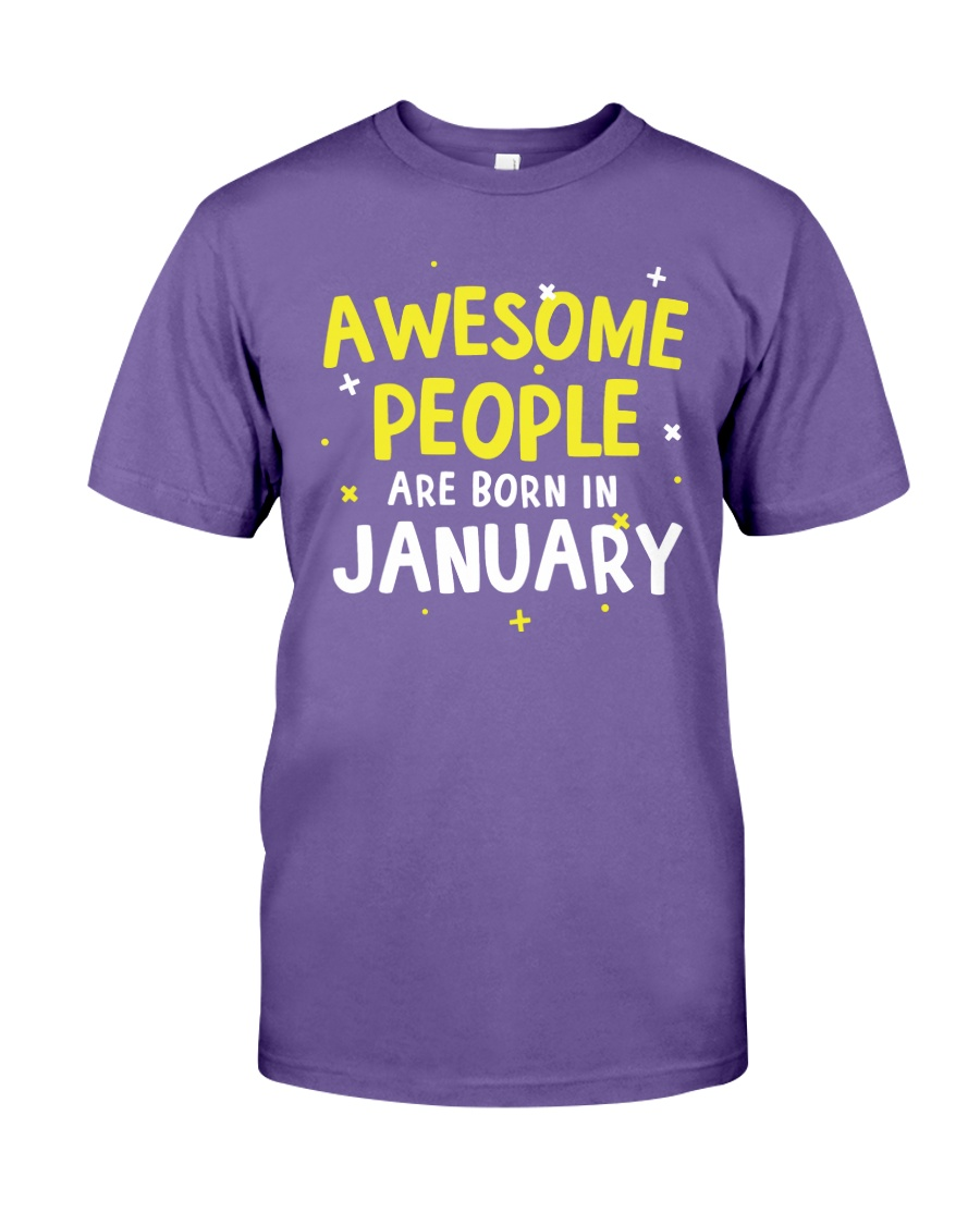 Awesome People are Born in January Premium Fit Mens Tee