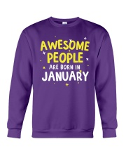 Awesome People are Born in January Crewneck Sweatshirt thumbnail