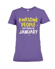 Awesome People are Born in January Premium Fit Ladies Tee thumbnail