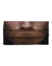 Bearded man Cloth face mask front