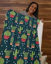 "Cactus Pattern Sherpa Fleece Blanket - 50"" x 60"" aos-sherpa-fleece-blanket-50x60-lifestyle-front-09b"