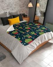 """Cactus Pattern Sherpa Fleece Blanket - 50"""" x 60"""" aos-sherpa-fleece-blanket-lifestyle-front-02"""