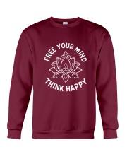 Think happy Crewneck Sweatshirt thumbnail