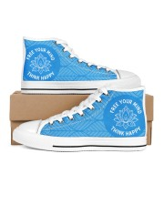 Think happy Women's High Top White Shoes thumbnail