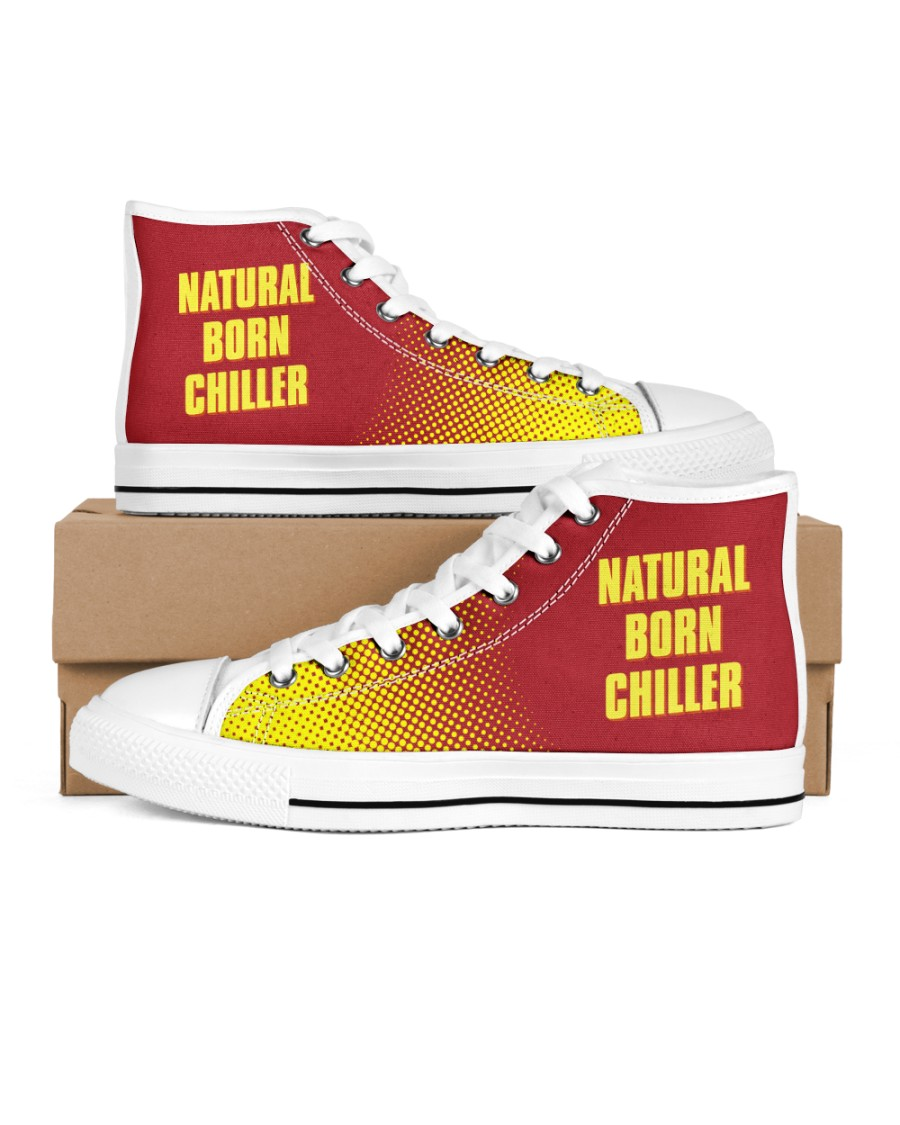 Natural Born Chiller Men's High Top White Shoes