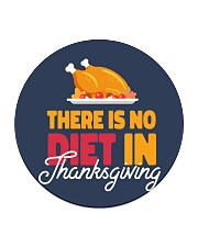 There is no Diet in Thanksgiving Circle Coaster thumbnail