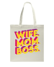 Wife Mom Boss Tote Bag thumbnail