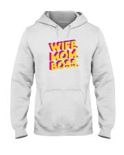 Wife Mom Boss Hooded Sweatshirt thumbnail