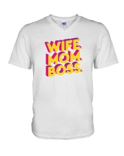 Wife Mom Boss V-Neck T-Shirt thumbnail