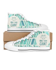Make Today Count Women's High Top White Shoes thumbnail