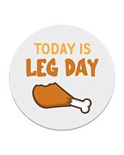 Today is Leg Day Circle Coaster thumbnail