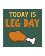 Today is Leg Day Square Coaster thumbnail