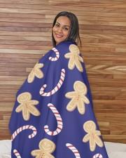 "Ginger Man Cookie Large Sherpa Fleece Blanket - 60"" x 80"" aos-sherpa-fleece-blanket-60x80-lifestyle-front-12"