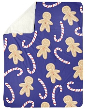 "Ginger Man Cookie Large Sherpa Fleece Blanket - 60"" x 80"" front"