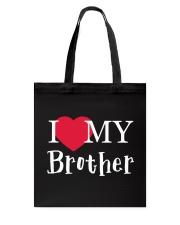I Love My Brother Tote Bag thumbnail