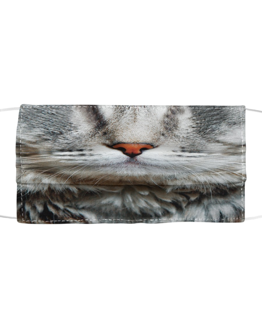 Orange nose cat Cloth face mask