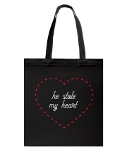 He Stole My Heart - Couple's Design Tote Bag thumbnail