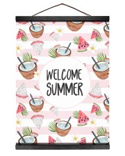 Welcome Summer 12x16 Black Hanging Canvas thumbnail