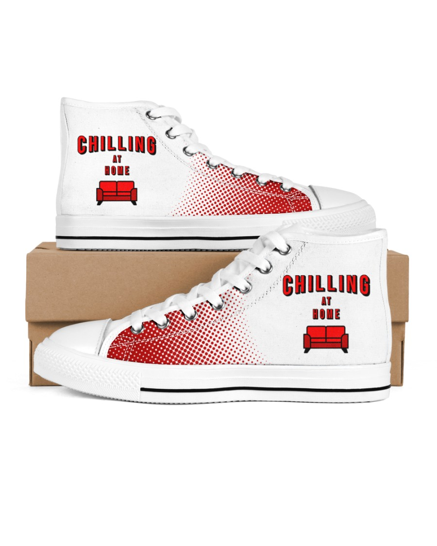 Chilling at Home Men's High Top White Shoes