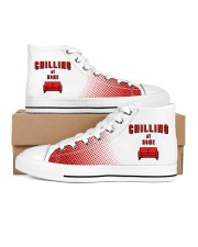 Chilling at Home Men's High Top White Shoes inside-right-outside-right
